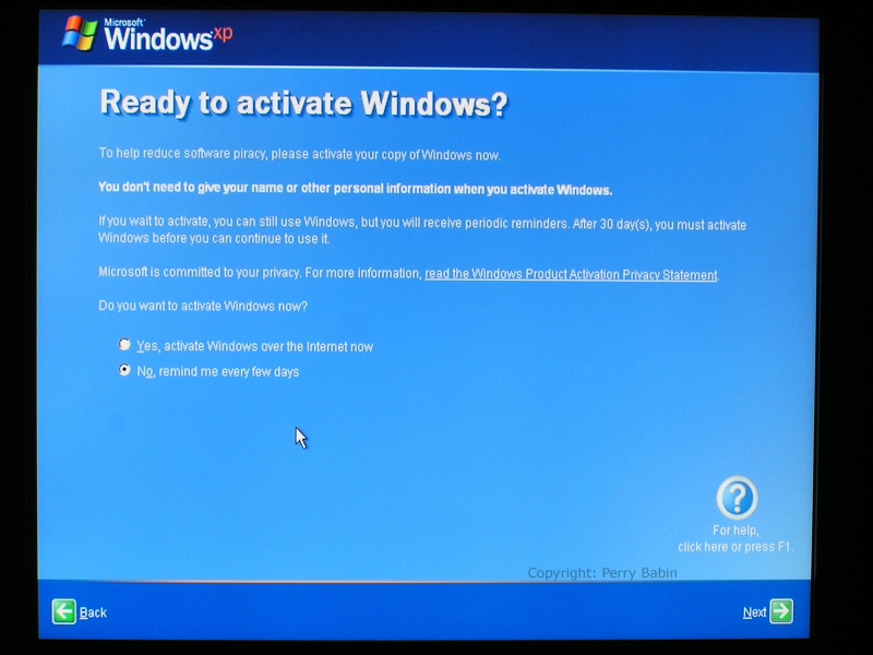 will windows xp still activate